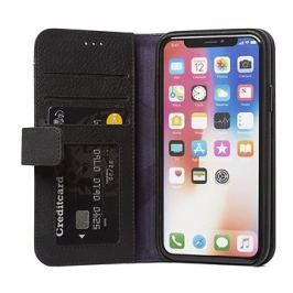 Decoded Leather Impact Protection Wallet Case Black iPhone X