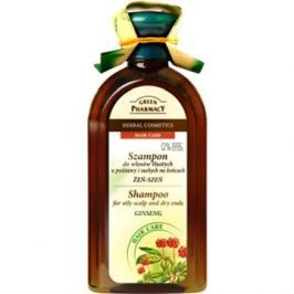 GREEN PHARMACY Shampoo For Oily Scalp and Dry Ends Ginseng 350 ml