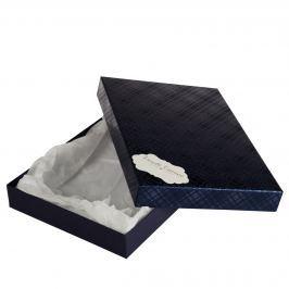 Box Ilona II. 2 tmavě modrá kára 30,5x21x4 cm se jmenovkou a hedvábným papírem
